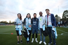07-06-2017 Lionel Messi surprises young CanTeen heroes at City Football Academy in Melbourne